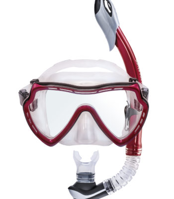 diving mask tube red vinous